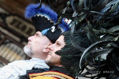 Venice carnival feather hat
