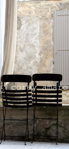 Garden chairs French