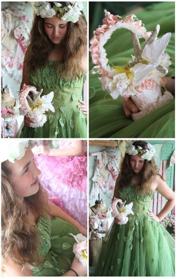 Vintage Easter Dress Green