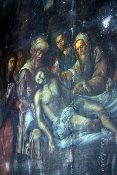 Christ from the cross, antique painitng