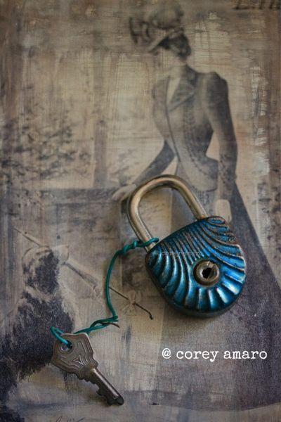 Blue lock andkey