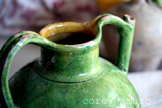 Provencal pottery water