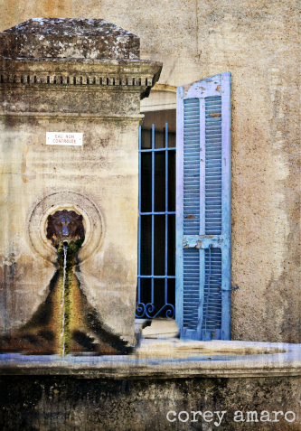 Stone French fountain