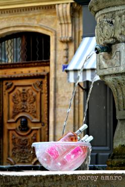 France, Fountain, Wine