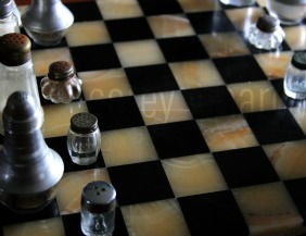 Marble checkered board