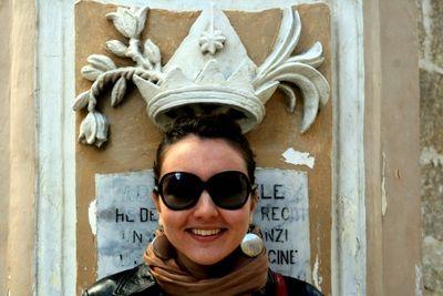 Facade with a crown in Malta