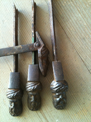 Antique French Shutter Tie Backs