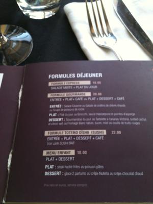 Dejeuner in Aix en Provence