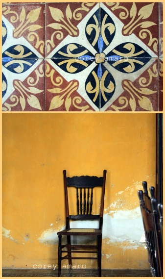 French tiles in Mexico