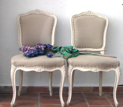 Faded Charm at the French brocante Antique french dining room chairs