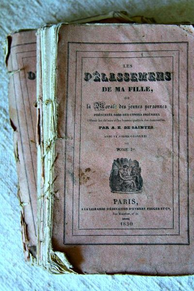 French Pink Ruffled Page Books