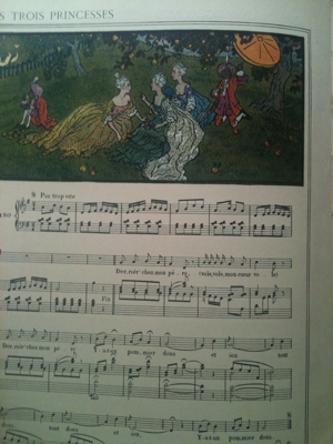 French Antique Child'S Music Book