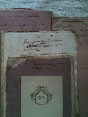 Fifty Pages of 1800s Documents in Folders