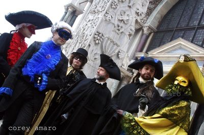 The troupe from Paris at the venice carnival