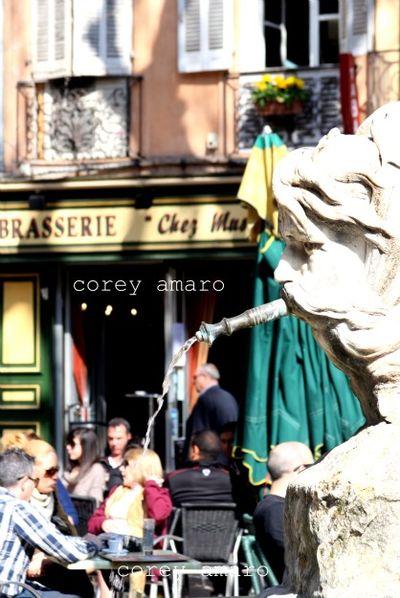 Cafe scene France