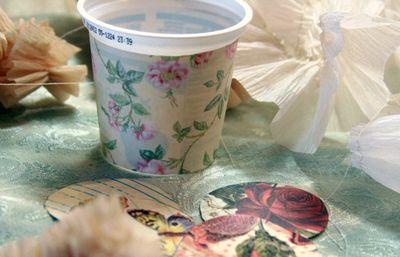 Yogurt cup Easter basket