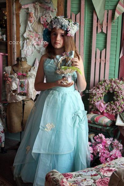 Easter parade vintage blue