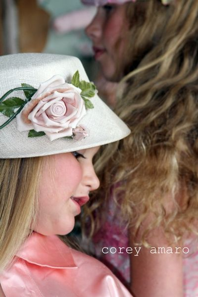 Easter rose bonnet
