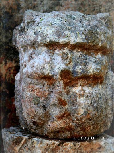Maya Ruin Stone Carved