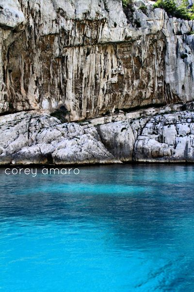 Cassis, france, dive into the blue