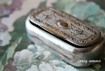 Tarnished Silver Metal Needle Case