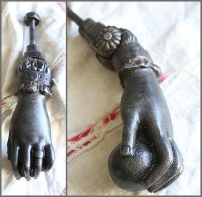 French Antique Fatima Hand Knocker