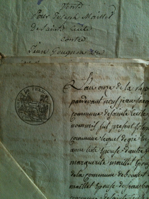 French Antique Documents