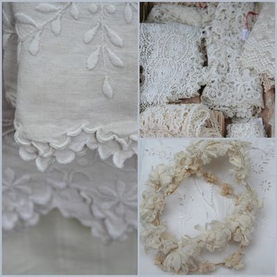 French antique lace Collage