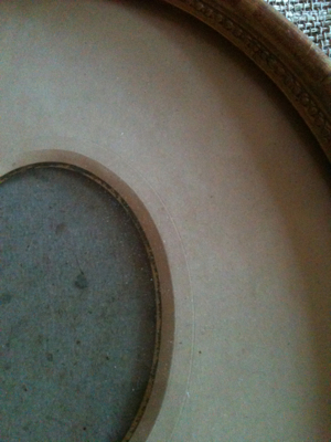 Pair of Large Oval Gilded Frames