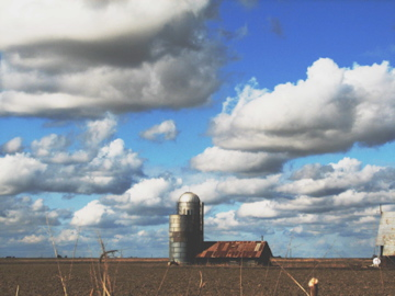 Silo-and-clouds