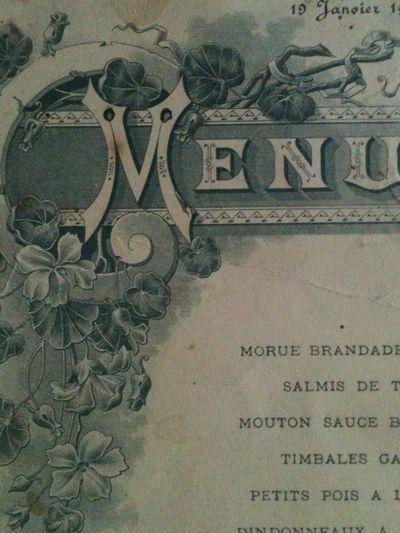 French Menus