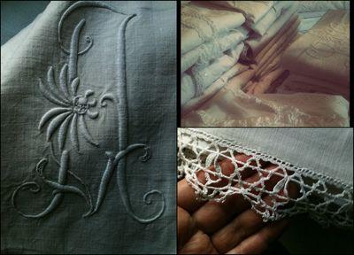 Lace, monogram, textiles