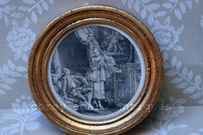 Engraving with frame