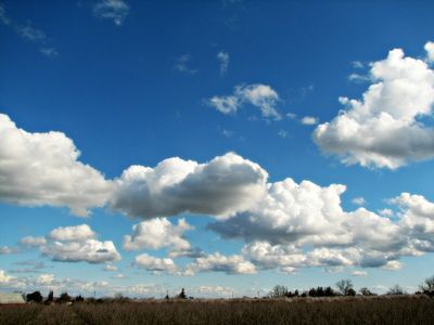 Blue skies with clouds