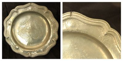 Pewter plate, French antique