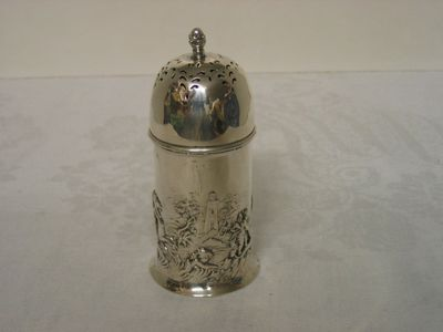 Antique silver sugar holder