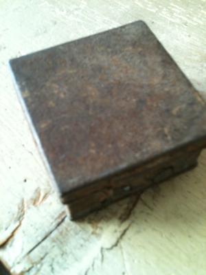 Metal Antique Stamps & Box