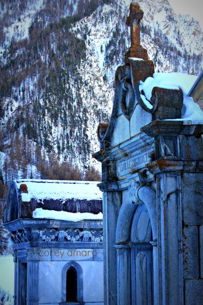 French Alps gravesite