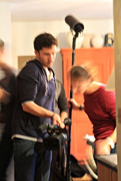 Sacha working of a film
