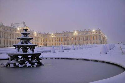 Christian milet winter in Versailles