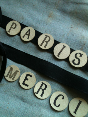 Paper Words Paris Merci