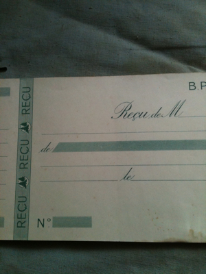 1900s French Receipt Book