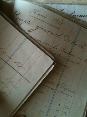 French 1800s Document Binder