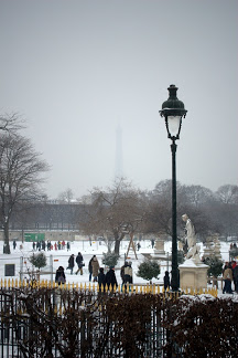 Tulieres Jardin snow covered, by Chelsea