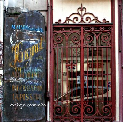 Paris Old Sign