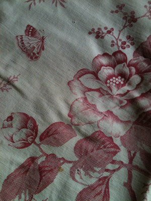French Antique Rose Indienne Print Fabric