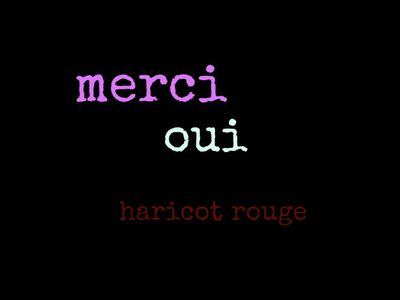 French words haricot rouge