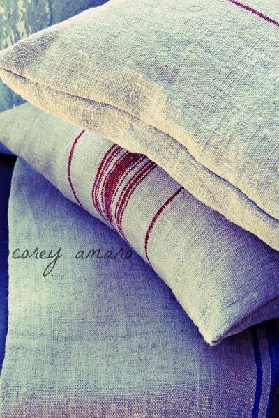 Hemp linens and cushions