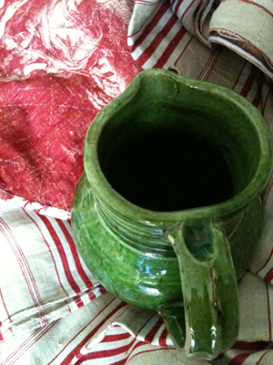 Provencal Green Pitcher