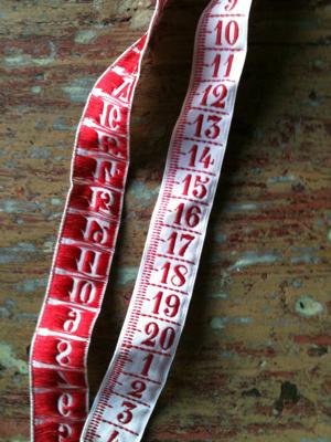Red Ribbon Measure Tape